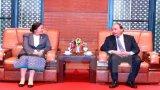 Thủ tướng Nguyễn Xuân Phúc tiếp Chủ tịch Quốc hội Lào Pany Yathotu