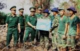 Bộ CHQS tỉnh Long An thăm Đội K73 đang làm nhiệm vụ tại huyện Bến Lức
