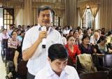 Cử tri thị trấn Tân Trụ đề nghị xử lý nghiêm tệ tham nhũng