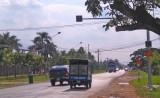 Lắp đèn chớp vàng Quốc lộ 62-Hẻm 386 phía trước Bộ CHQS tỉnh Long An