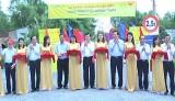 Nguyên Chủ tịch nước- Trương Tấn Sang dự khánh thành 4 cây cầu nông thôn ở Đức Huệ