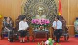 Tổng Lãnh sự Vương quốc Thái Lan tại TP.HCM chào xã giao lãnh đạo tỉnh