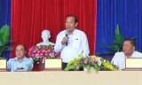 Phó Thủ tướng Thường trực Chính phủ - Trương Hòa Bình giải đáp nhiều vấn đề của cử tri Đức Hòa