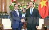 Chủ tịch nước tiếp Đặc phái viên của Tổng thống Hàn Quốc