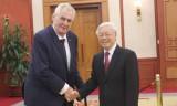 Tổng Bí thư Nguyễn Phú Trọng tiếp Tổng thống Séc Milos Zeman