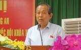 Phó Thủ tướng Chính phủ Trương Hòa Bình tiếp xúc cử tri thị xã Kiến Tường