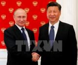 Tổng thống Nga Putin đón tiếp Chủ tịch Trung Quốc tại Điện Kremlin