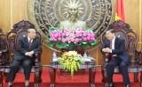 Đoàn đại biểu Bộ Lễ nghi và Tôn giáo Vương quốc Campuchia thăm và trao đổi kinh nghiệm về công tác tôn giáo tại Long An