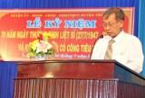 Thủ Thừa: Họp mặt kỷ niệm 70 năm Ngày Thương binh - Liệt sĩ