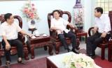 Phó Tham mưu trưởng Hải quân nhân dân Việt Nam thăm, làm việc tại huỵên Cần Đước
