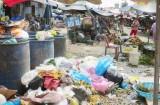 Đức Hòa: Nguy cơ ô nhiễm từ rác chợ