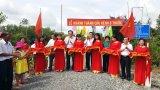 Nguyên Chủ tịch nước - Trương Tấn Sang dự lễ khánh thành cầu giao thông nông thôn tại Đức Hòa
