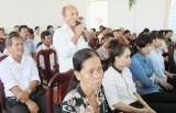 Bí thư Huyện ủy Bến Lức đối thoại với nhân dân về lập lại trật tự đô thị và bảo vệ môi trường