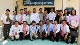 Đoàn cán bộ thông tin, truyền thông Long An làm việc tại Svay-Rieng