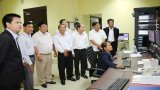 Đoàn cán bộ thông tin, truyền thông Long An làm việc với Đài Truyền hình Bayon