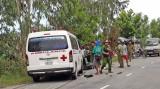 Xe cứu thương tông xe gắn máy, 2 người chấn thương vùng đầu