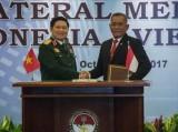 Việt Nam-Indonesia ký Tuyên bố Tầm nhìn chung về hợp tác quốc phòng