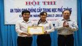 Hội thi An toàn giao thông THPT cấp tỉnh: THPT Tân Thạnh đoạt giải nhất