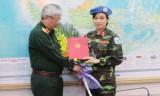 Việt Nam cử nữ sỹ quan đầu tiên tham gia lực lượng gìn giữ hòa bình LHQ