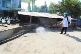 Cấp 7.000 lít thuốc sát trùng thực hiện tháng vệ sinh, tiêu độc môi trường