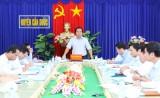 Cần Đước: Phó Chủ tịch UBND tỉnh-Nguyễn Văn Được kiểm tra tiến độ triển khai Trạm biến áp 220KV