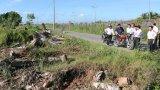 Kiểm tra tình trạng chuyển mục đích sử dụng đất và xây dựng trái phép tại huyện Thủ Thừa