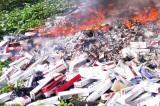 Tiêu hủy hơn 81 ngàn gói thuốc lá lậu