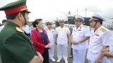 Chủ tịch Quốc hội Nguyễn Thị Kim Ngân thăm các đơn vị Hải quân