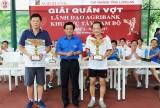 Agribank Long An tổ chức Giải quần vợt lãnh đạo Agribank khu vực Tây Nam bộ