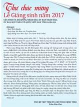 Thư chúc mừng Lễ Giáng sinh năm 2017 của Tỉnh ủy, Hội đồng nhân dân, Ủy ban nhân dân, Ủy ban Mặt trận Tổ quốc Việt Nam tỉnh Long An