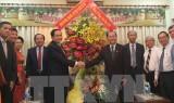 Chủ tịch MTTQ thăm, chúc mừng Giáng sinh tại Thành phố Hồ Chí Minh