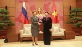 Chủ tịch Quốc hội tiếp Đoàn đại biểu Quốc hội Liên bang Nga