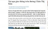 """Long An online cải chính, xin lỗi thông tin """"Tai nạn giao thông trên đường Châu Thị Kim"""""""