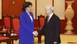Tổng Bí thư tiếp Đại sứ Cuba chào xã giao bắt đầu nhiệm kỳ công tác