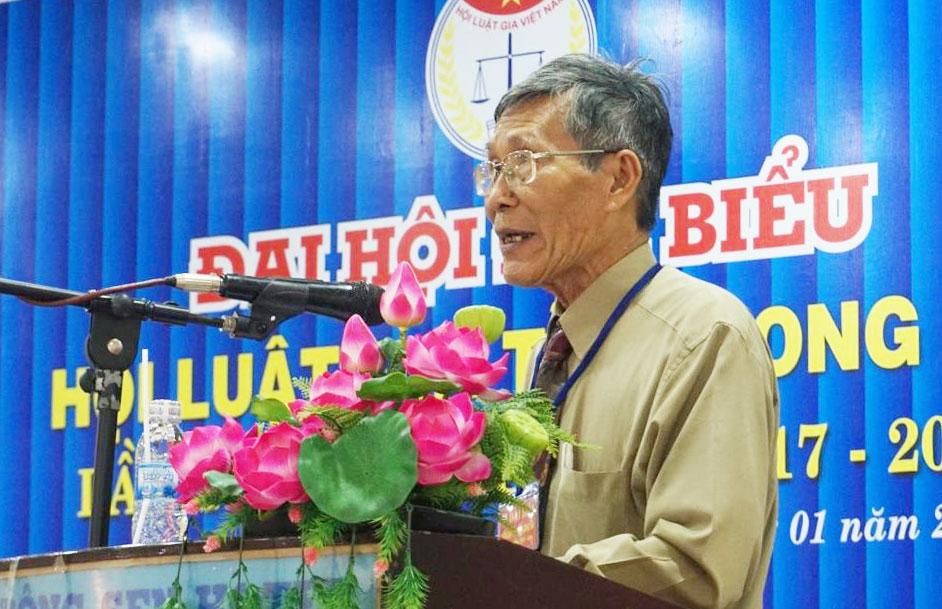 Chủ tịch HLG tỉnh Long An nhiệm kỳ IV-Ngô Văn Phê phát biểu khai mạc Đại hội.
