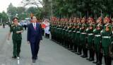 Chủ tịch nước thăm và chúc Tết cán bộ, chiến sỹ Quân đoàn 4