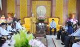 Đoàn đại biểu các tôn giáo, dân tộc chúc Tết lãnh đạo tỉnh Long An