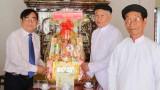 Lãnh đạo tỉnh Long An thăm và chúc Tết các cơ sở tôn giáo tại tỉnh Tiền Giang và Bến Tre