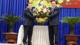 Đoàn đại biểu 2 tỉnh Svay Rieng, Prey Veng (Vương quốc Campuchia) chúc tết tỉnh Long An