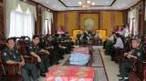 Đoàn Bộ Tư lệnh Cảnh vệ Quân đội Hoàng gia Campuchia thăm Long An