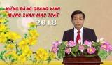 Chủ tịch UBND tỉnh Long An - Trần Văn Cần chúc mừng năm mới Mậu Tuất 2018