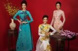 Top 3 Hoa hậu Hoàn vũ Việt Nam 2017 'đỏ rực' mừng Xuân mới