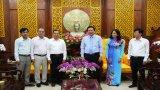 Báo Long An chúc tết Tỉnh ủy, HĐND, UBND, UBMTTQ Việt Nam tỉnh và một số cơ quan, đơn vị