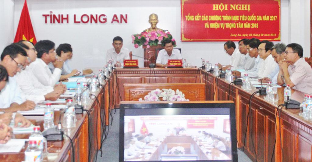 Đại biểu dự hội nghị  tại điểm cầu Long An