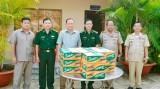 Bộ đội Biên phòng tỉnh thăm Đồn công an xuất nhập cảnh Cửa khẩu Pray Vo, Campuchia