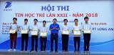 35 cá nhân được khen thưởng tại Hội thi Tin học trẻ lần thứ XXII - năm 2018