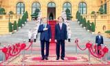 Lễ đón chính thức Tổng thống Hàn Quốc và Phu nhân thăm cấp Nhà nước