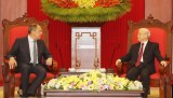 Tổng bí thư: Việt Nam luôn dành ưu tiên củng cố quan hệ với Nga