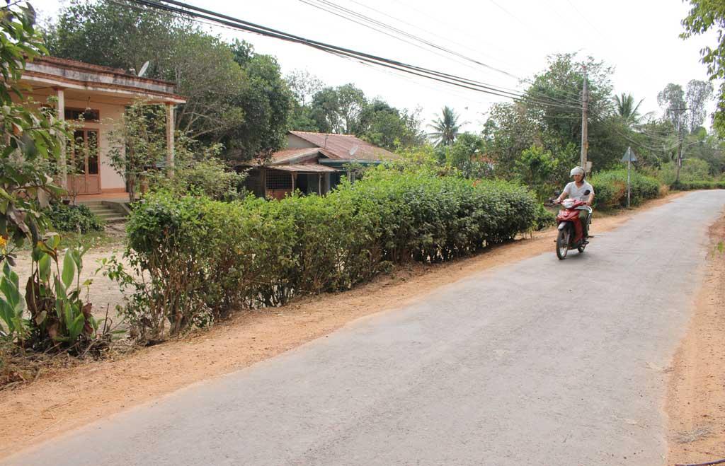 Thái Trị có 14,4km đường trục xã, liên xã được nhựa hóa