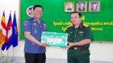 Chúc tết Tiểu khu Quân sự tỉnh Prey Veng